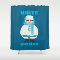 russian Shower Curtains featuring White Russian by Supergna