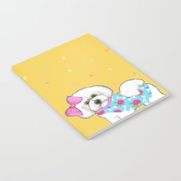 Bichon Frise Holidays yellow cute dogs, Christmas gift, holiday gift, birthday gift, dog, Bijon Notebook