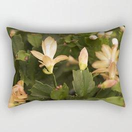 Christmas Cactus Buds and Blooms Rectangular Pillow
