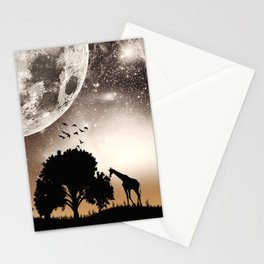 Nature silhouettes Stationery Cards