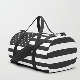 American Flag Stars and Stripes Black White Duffle Bag