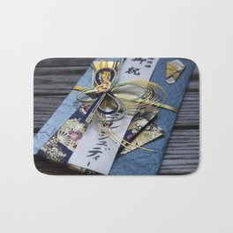 Japanese wedding envelope Bath Mat