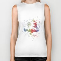 death star Biker Tanks featuring Death Star Star . Wars by Carma Zoe