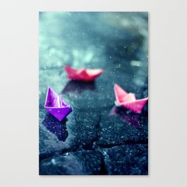 Paper Boats Canvas Print