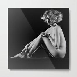 Beautiful Nude Woman Fineart style Metal Print