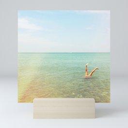 Turquoise Handstand Mini Art Print