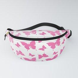 Vintage cute pink watercolor butterflies pattern Fanny Pack