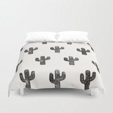 Stamped Cactus Duvet Cover