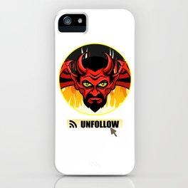 Devil Religion Unfollow Jesus God Gift iPhone Case