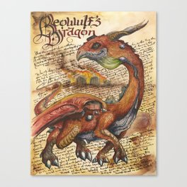 Beowulf's Dragon from the Field Guide to Dragons Canvas Print