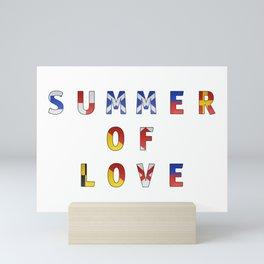 Summer of Love - Navy Code Mini Art Print