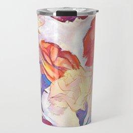 Painted Carnations Travel Mug