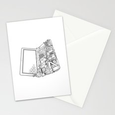 Laptop Surroundings Stationery Cards