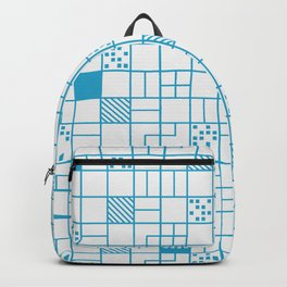 Boxes Blue Backpack
