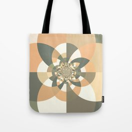 Beige Peach Kaleidoscope Tote Bag