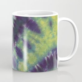Spiral Tie Dye Purple Green Blue Yellow Coffee Mug