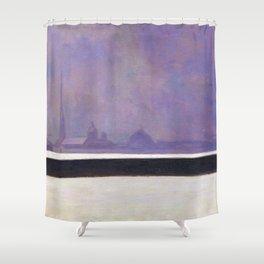 Felix Vallotton -  La Néva, Brume Légère (new color editing) Shower Curtain