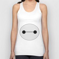 baymax Tank Tops featuring Baymax by BlondieAu
