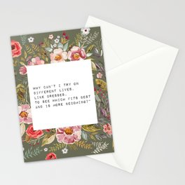 Why can't I try on different lives - S. Plath Collection Stationery Cards