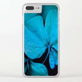 Shiny turquoise petals on a black background - #society6 #buyart Clear iPhone Case