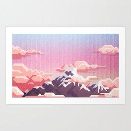 MountPixel Art Print