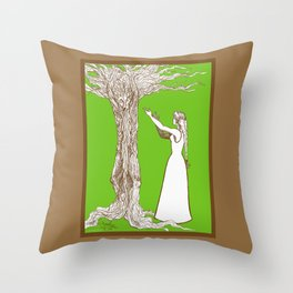 Nimue & Merlin Throw Pillow