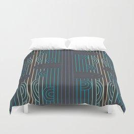 art deco stripe Duvet Cover