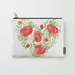 Rose Heart watercolor Carry-All Pouch