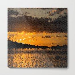 Autumn Sunset Mosaic #decor #society6 Metal Print