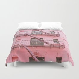 Pink Soho NYC Duvet Cover