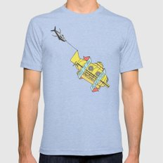 This Is An Adventure | The Life Aquatic with Steve Zissou Mens Fitted Tee Tri-Blue MEDIUM