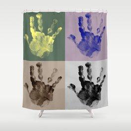 Handprints II Shower Curtain