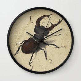 Stag Beetle - Albrecht Durer Wall Clock