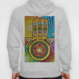 Hamsa Hand, hand of fatima, mandala, yoga art, mandala art, meditation art Hoody