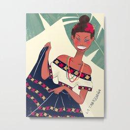 Mexican folklore - Tabasqueña Metal Print