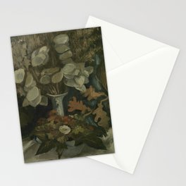 "Vincent van Gogh - Vase with Honesty ""Vaas met judaspenningen"" (1884) Stationery Cards"