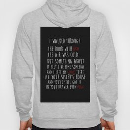 TS RED CD - All Too Well quote Hoody