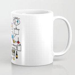 Beer Brewing Schematic   Brewer Brewery Gift Coffee Mug
