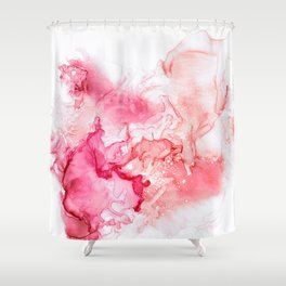 Red fog Shower Curtain