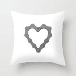 I Love Bike. Throw Pillow