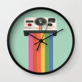 Insta Camera Illustraton Wall Clock
