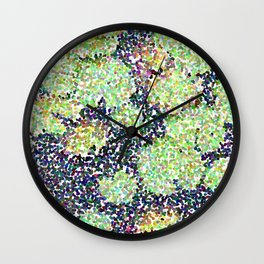 Pointilized Lily Pads Wall Clock