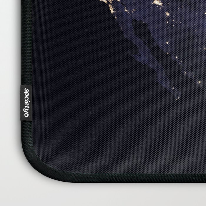 United States at Night Laptop Sleeve
