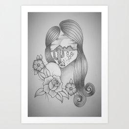 Desert Girl Art Print