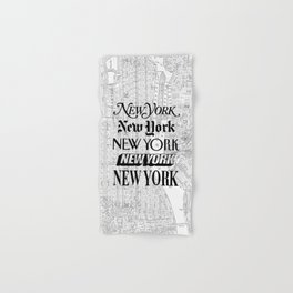 New York City black and white New York poster I love heart NYC Design black-white home wall decor Hand & Bath Towel