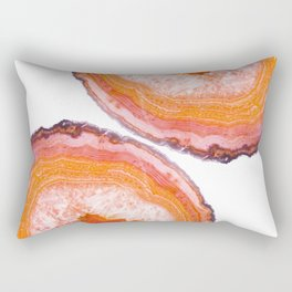 Carnelian Agate Slices Rectangular Pillow