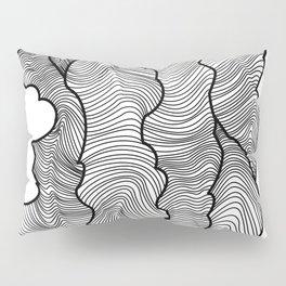 Contour Lines Pillow Sham
