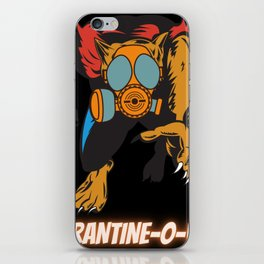 Quarantine-O-Ween Werewolf Lupine Lovers Funny Halloween Costume Funny Lycan Halloween Gift Wolf iPhone Skin