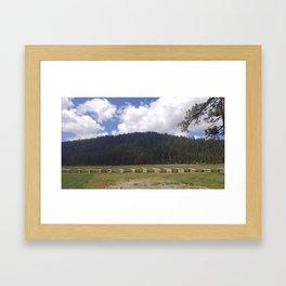 Lassen Mountains Framed Art Print