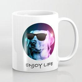 Cool Dog Enjoying Life Coffee Mug